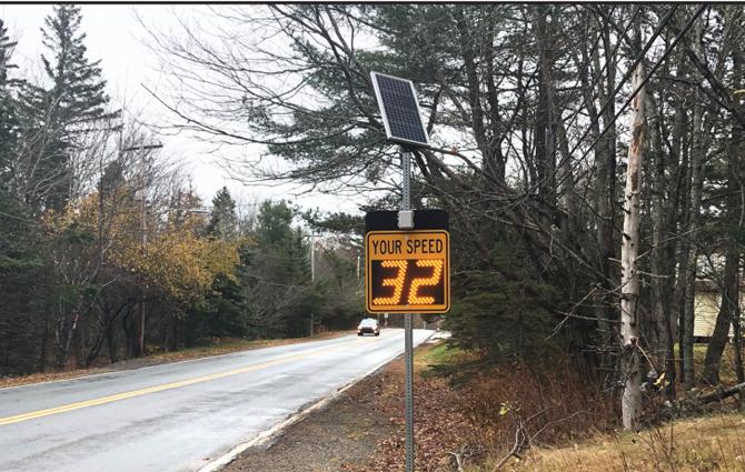 Shatford School Zone Gets Two Speed Radar Signs